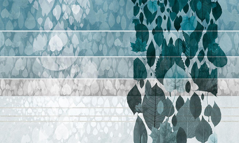 Wallpaper Rainy leaves